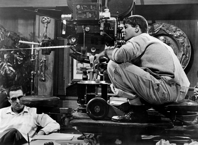 "Jerry Lewis on the set of ""The Errand Boy,"" 1961"